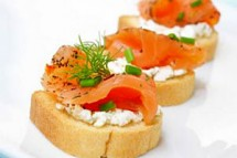 Toasts au saumon et mascarpone